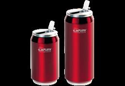 LaPlaya Cool Can - Nerez 0,5 litru červená termoplechovka
